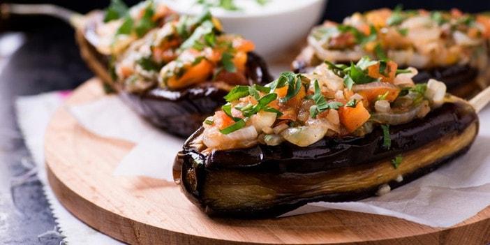 gef llte auberginen vegetarisch mit feta taste of koroni. Black Bedroom Furniture Sets. Home Design Ideas